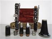 NOBLET PARIS 145 WOOD CLARINET, MADE IN FRANCE, TWO MOUTHPIECES, CASE